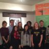Winners of the Teens Dream film competition, from the US and UK, attending Scott's social entrepreneurship workshop